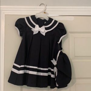 "NWT - Girl's Navy ""Sailor"" dress by Rare Editions"